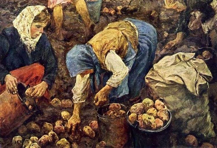 Аркадий Пластов «Сбор картофеля»