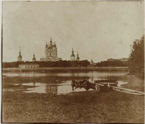 Смольный монастырь, фотография 1852 года